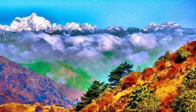 Colorful Painting - Nature Landscape Oil by Margaret J Rocha