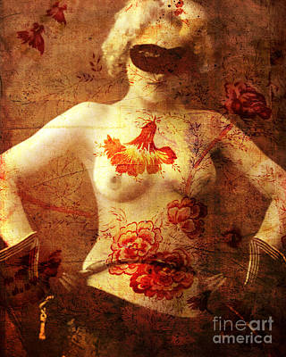 Female Mixed Media - Winsome Woman  by Chris Andruskiewicz