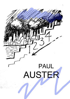 Abstract Shapes Janice Austin Royalty Free Images - 4321 Paul Auster Poster  Royalty-Free Image by Paul Sutcliffe