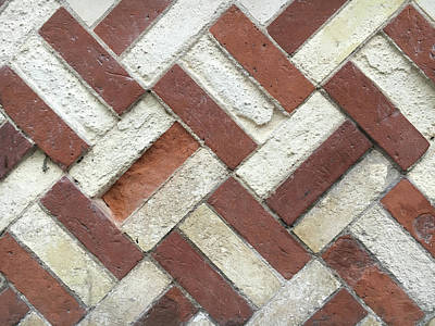 Chequered Photograph - Brick Wall by Tom Gowanlock