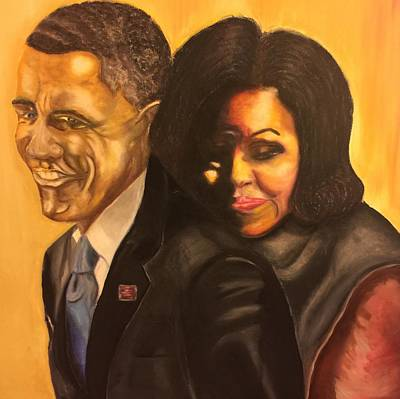 Michelle Obama Painting - 44 by Ebony Thompson