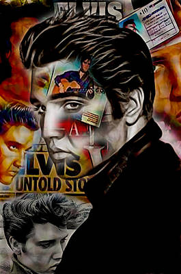 Elvis Presley Collection Art Print by Marvin Blaine