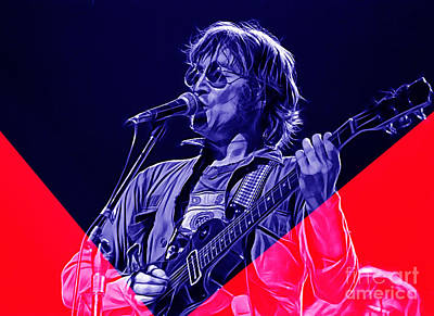 John Lennon Collection Art Print by Marvin Blaine