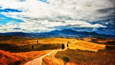 Morning Painting - Landscape Paintings Canvas Prints Nature Art  by Margaret J Rocha