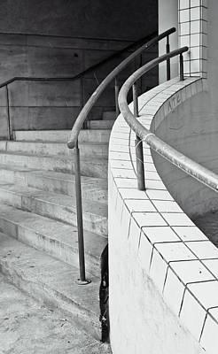 Brutalist Photograph - Stone Steps by Tom Gowanlock
