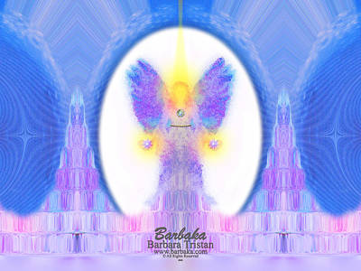 444 Angel Crystals Art Print by Barbara Tristan