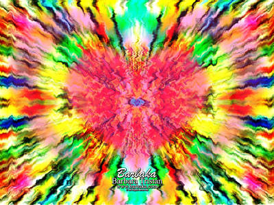 444 Loves Vibration Art Print by Barbara Tristan