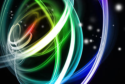 Swirly Digital Art - Abstract Background by Les Cunliffe