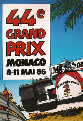 Marlboro Digital Art - 44th Monaco Grand Prix 1986 by Georgia Fowler