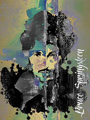Music Mixed Media - Bruce Springsteen Collection by Marvin Blaine
