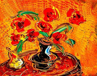 Water Sports Poster Painting - Flowers by Mark Kazav