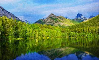 Nature Painting - Landscape Drawing Nature by Margaret J Rocha