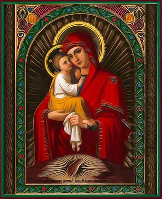 Madonna Enthroned Art Print by Christian Art