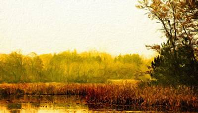 Outdoors Painting - Nature Oil Painting Landscape by Margaret J Rocha