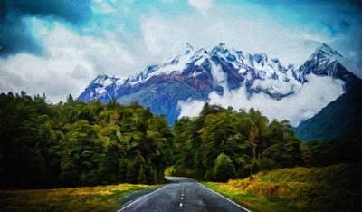 Autumn Painting - Nature Original Landscape Painting by Margaret J Rocha