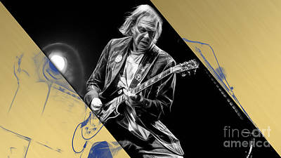 Legend Mixed Media - Neil Young Collection by Marvin Blaine