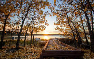 Yellow Digital Art - Sunset by Super Lovely