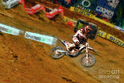 Photograph - 450 Supercross Jason Anderson  by Blake Richards