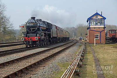 Photograph - 45305 At Swithland Signal Box by David Birchall