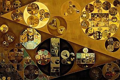 Golden Digital Art - Abstract Painting - Zinnwaldite Brown by Vitaliy Gladkiy
