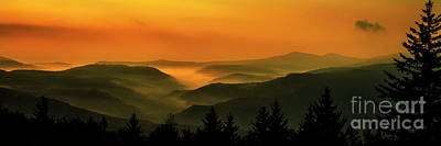 Art Print featuring the photograph Allegheny Mountain Sunrise by Thomas R Fletcher