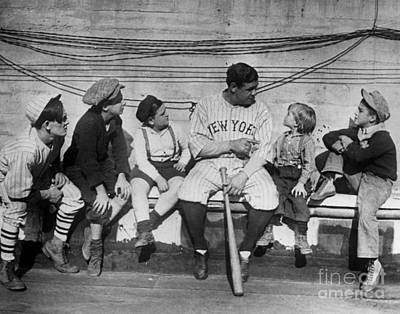 Dugouts Photograph - George H. Ruth (1895-1948) by Granger