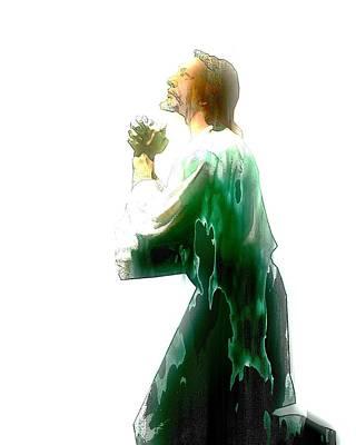 Jesus Christ - Religious Art Art Print by Elena Kosvincheva