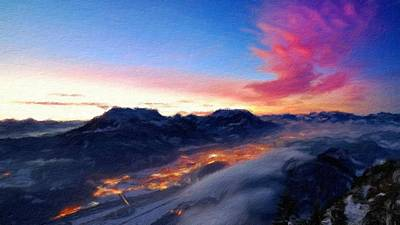 Reflection Digital Art - Landscape Of Art by Landscape Art
