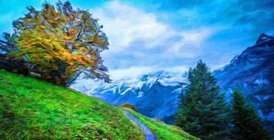 Autumn Painting - Landscape Paintings Canvas Prints Nature Art  by Margaret J Rocha