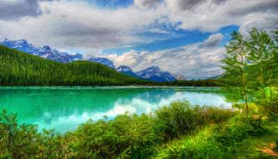 Bob Ross Painting - Nature Landscape Paintings by Margaret J Rocha