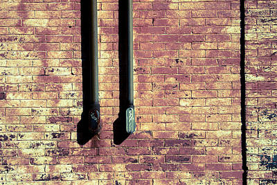 Photograph - Brick Wall And Old Iron by Vintage Pix