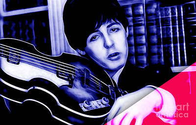 Rock And Roll Mixed Media - Paul Mccartney Collection by Marvin Blaine