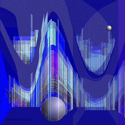 Painting - 460 - City Of Future 1 ...  by Irmgard Schoendorf Welch
