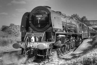 Photograph - 46233 Duchess Of Sutherland At Butterley by David Birchall