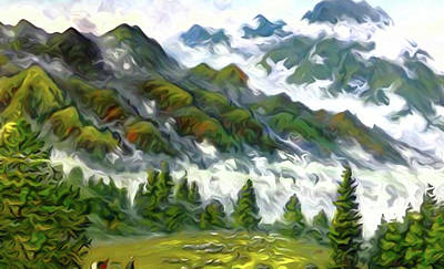 Reflection Painting - Nature Landscape Pictures by Edna Wallen