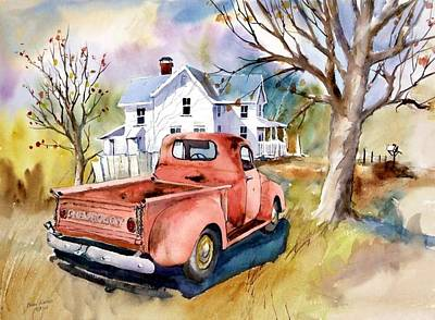 ''47'' Chevy Blues Art Print