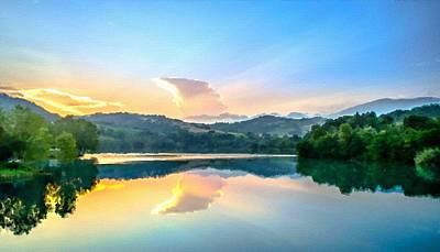 Summer Digital Art - Landscape Luminous by Victoria Landscapes