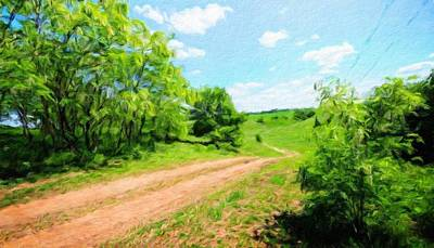 Cloud Painting - Landscape Oil Painting Nature by Margaret J Rocha