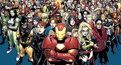 Legion Superheroes Art Print by Egor Vysockiy