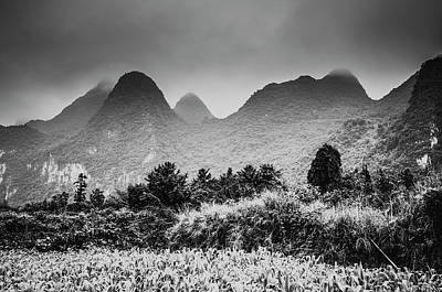 Photograph - Mountains Scenery by Carl Ning