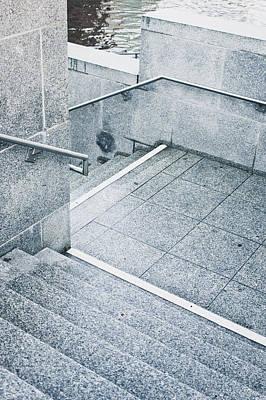 Hall Way Photograph - Stone Steps by Tom Gowanlock