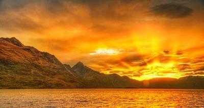 Cloud Digital Art - Sunset by Super Lovely