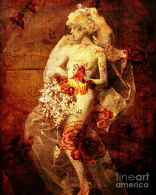 Bride Mixed Media - Winsome Woman  by Chris Andruskiewicz