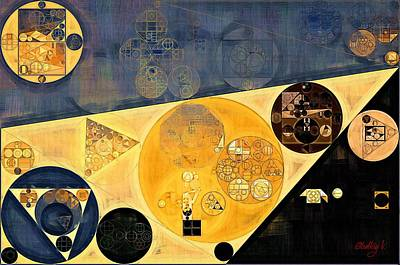 Abstract Painting - Onyx Art Print by Vitaliy Gladkiy