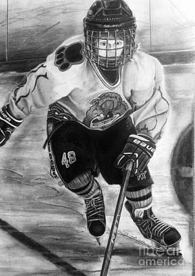 #48 Andrew Savona Squirt Aa Hatfield Ice Dogs Art Print by Gary Reising