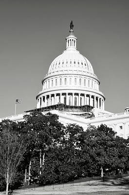 Capitol Hill Building In Washington Dc Art Print