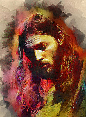 Pink Floyd Digital Art - David Gilmour. Pink Floyd. by Best Actors