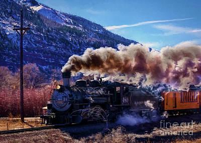 Photograph - 480 Steam Engine Winter Run by Janice Rae Pariza