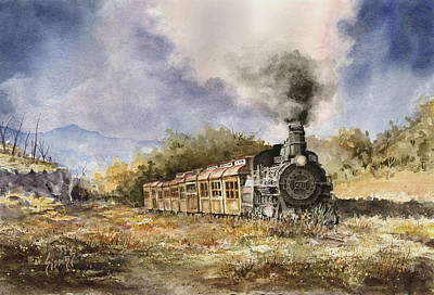 Steam Locomotive Painting - 481 From Durango by Sam Sidders