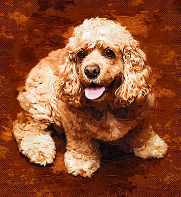Dog Art Print by Anna J Davis